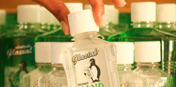 Use the hand sanitizer of Glacial to get rid of all bacteria, microbes and parasites.