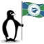 The Glacial penguin holding the flag of Martinique.