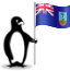The Glacial penguin holding the flag of Montserrat.